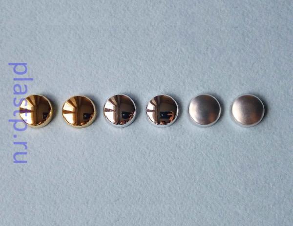 Декоративные колпачки на саморез хром, золото металлик